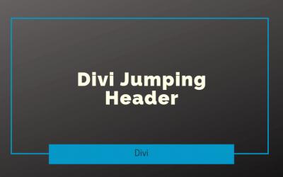 Divi Jumping Header