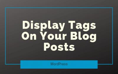 Display Tags On Your Blog Posts