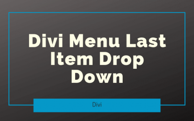 Divi Menu Last Item Drop Down
